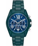 NWT Michael Kors MK6723 Ladies Bradshaw Teal Coated Chronograph Watch - $81.50