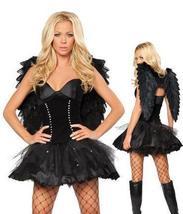 Black Dark Angel Costume With Wings image 1