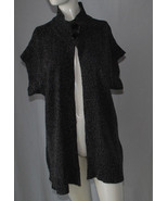 Bobbie Brooks Cardigan Sweater Womens Plus 1X S/S One Button Dark Gray B... - $14.80