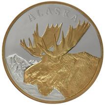 Alaska Mint Official 1998 State Medallion Gold & Silver Medallion Proof ... - $232.64