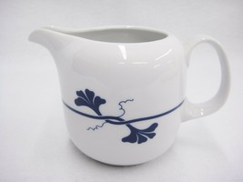 "Arzberg Blue Leaf Creamer Pitcher Cobalt Flowers Made in Germany 3"" Rare - $10.88"