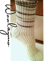 100% Merino Wool Socks Handmade Hiking Very Thick Thermal Winter Socks S... - $18.80