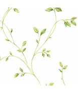 Watercolor Leaves Wallpaper Green Norwall Wallcovering KC28550 - $40.99