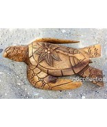 "12"" Long Wooden Turtle Tortoise Statue Hand Carved Sculpture Wood Decor ... - $1.455,25 MXN"