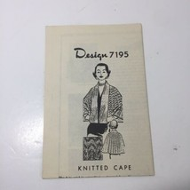 Knitted Cape # 7195 Alice Brooks Designs Pattern - $11.64