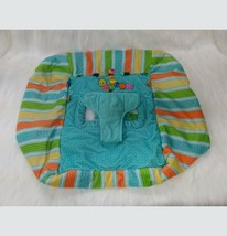 Taggies Baby Shopping Cart Cover Tag And Go Green Blue Orange Stripes Do... - $16.99