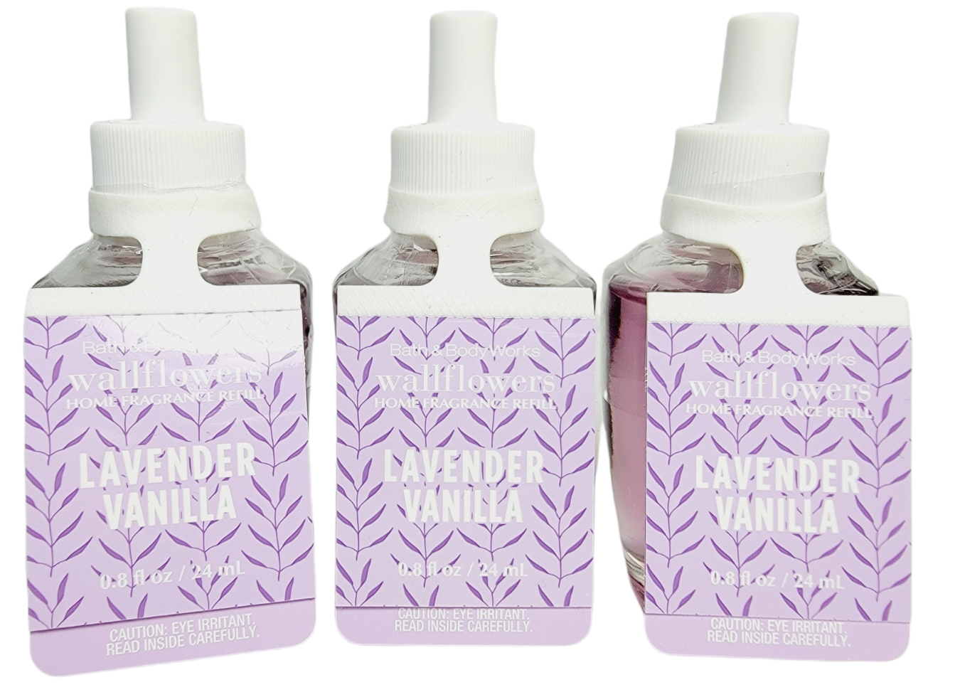 3 Bath & Body Works LAVENDER VANILLA Wallflower Refill Bulbs Home Fragrance NEW - $23.17