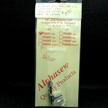 "1/4"" 3/16"" Rolled Hem Foot #P60001 Low Shank Hemmer Foot Alphasew  - $12.19"
