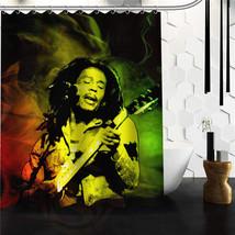 High quality custom bob marley rasta reggae custom shower curtain 60x72 48x72 inch thumb200