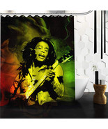 High Quality Custom Bob Marley Rasta Reggae Custom Shower Curtain 60x72 ... - $42.49