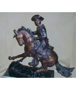 VINTAGE 1980's FREDERIC REMINGTON BRONZE STATUE, THE COWBOY - $1,336.50