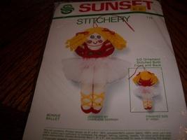 Sunset Stitchery Kit 116~Bonnie Ballet Ornament - $15.00
