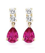 14K GOLD  DANGLING EARRINGS  ON SALE available in 12 colors - $39.19