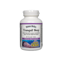 Natural Factors Stress-Relax Tranquil Sleep, 60 Chewable Tablets - $22.37