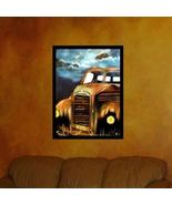 11 X14 Junk Yard Old Dog Classic Truck Acrylic Painting by the Artist - $14.95