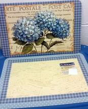 "2 Pc Set Reversible Non Clear Hard Placemats 12""x18"", Flowers & Postale, Conimar - $9.89"