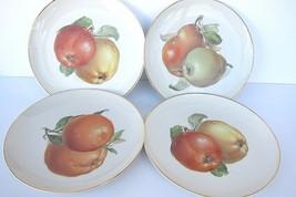 Eight Vintage Hutschenreuther Selb Gold Rim Plates 7-5/8 inch Fruit Bavaria - $42.49