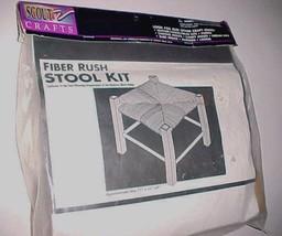 "Scout Crafts Fiber Rush Stool Kit 17193 Boy Scouts of America 11"" x 11"" ... - $27.71"