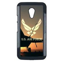 Air Force Motorola Moto E case Customized premium plastic phone case, design #7 - $11.87