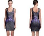 Black panther purple neon bodycon dress thumb155 crop