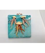 Wall Plaque Jellyfish Handmade Polymer Clay OOAK Bathroom Kitchen Wall Hanging  - $45.00