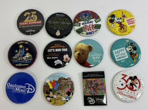 DISNEY Parks Magic Kingdom Mickeys Birthday Anniversary Pinback Button Lot of 12 - $39.95