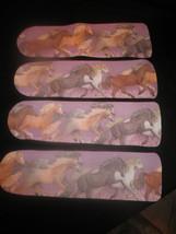 CUSTOM CEILING FAN ~MAJESTIC HORSES ON PURPLE STARRY SKY ~FINALLY BACK I... - $99.99