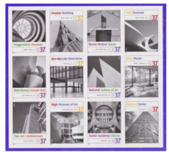 Masterworks of Modern American Architecture, Full Sheet of 12 x 37-Cent ... - $9.50