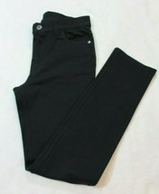 Childrens Place Girls Jegging Pants Size 12 Black Stretch Knit Skinny Straight - $17.41