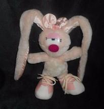 Vintage 1985 Applause Petit Billie Jean Rose Bunny Rabbit Animal en Peluche - $30.70