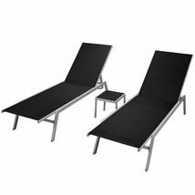 vidaXL Sunlounger Set w/ Table 3 pieces Lounge Patio Garden Chair Outdoo... - $248.99