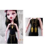 Doll Halloween Jewelry, Doll Coffin Skeleton Jewelry, Necklace Belt Earr... - $8.00