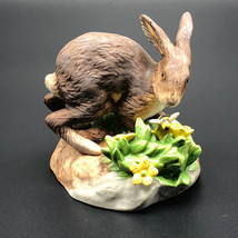 1984 Franklin Mint Figurine Peter Barrett Woodland September Moors Bunny Rabbit - $34.65