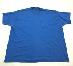 VINTAGE BVD Sleeveless Shirt Men's Size 3XL XXXL Blue Pocket Tee 90s MAD... - $4.74