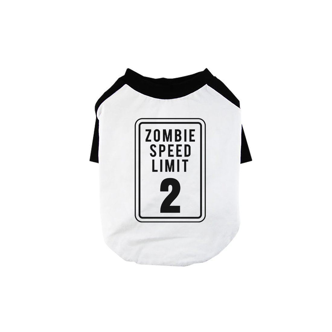 Zombie Speed Limit Pet Baseball Shirt for Small Dogs