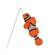 In the Breeze 18-Inch Clownfish Windsock - 24-Inch Shatterproof Wand - 1 PC - $14.50