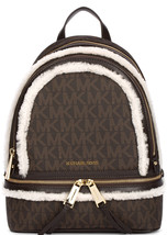 Michael Kors Rhea Zip Backpack - Medium - Brown