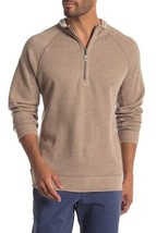 $ 99.50 Tommy Bahama Flipster Reversible Half Zip Pullover,Size XL,Beige - $59.37