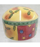 """Sango Sweet Shoppe Christmas 5"""" Box with Lid Covered Candy Dish by Sue Z... - $13.16"""
