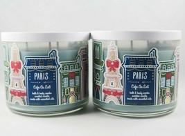 (4) Bath & Body Works Paris France Eiffel Café Au Lait 3-wick Candle 14.... - $110.33