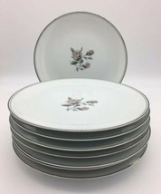 Set of 8 Vintage Noritake Margot Salad Plate 5605 Pink Roses Platinum Trim - $49.95