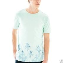 Arizona Floral T-shirt Mint Julep Palm Tree Size S, M New Msrp $26.00 - $6.99