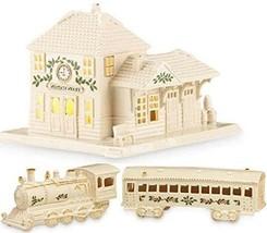 Lenox Christmas Village Train Station & Train & Passenger Car 2PC Boxed ... - $199.90