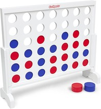 GoSports Giant Wooden 4 in a Row Game Choose Between Classic White or Da... - $111.99