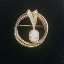 Vintage DCE 1/20 14k GF CAMEO Wreath Pin Brooch   - $3.95