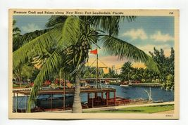 Pleasure Craft and Palms along New River Fort Lauderdale Florida - $0.99