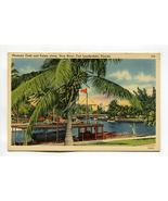 Pleasure Craft and Palms along New River Fort Lauderdale Florida - $0.79