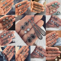 Lots Pairs Set Women Earring Set Vintage Boho Punk Ear Studs for Girls L... - $5.81