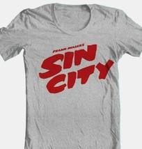 Sin City T shirt grey cotton blend retro 1990s movie comic book graphic tee image 1