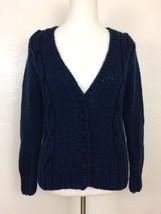 VTG Ann Katrine Size M Chunky Knit Cardigan Sweater Button Front Academia - $19.29